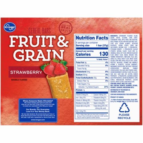 Kroger® Fruit & Grain Strawberry Cereal Bars Perspective: back