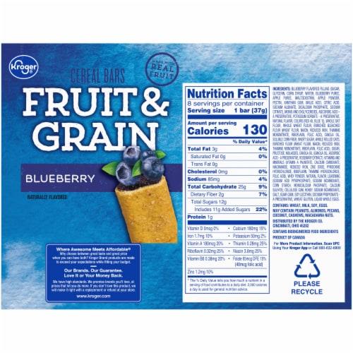 Kroger® Fruit & Grain Blueberry Cereal Bars Perspective: back