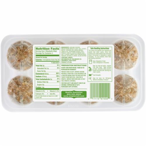 Simple Truth™ Italian Seasoned Chicken Meatballs Perspective: back