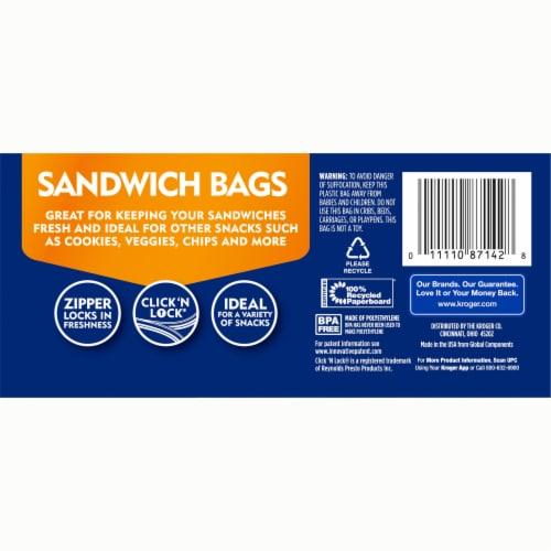 Kroger® Double Zipper Sandwich Bags Perspective: back