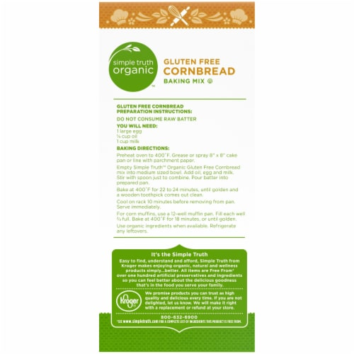 Simple Truth Organic™ Gluten Free Cornbread Baking Mix Perspective: back