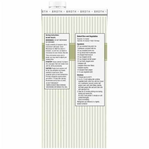 Kroger® Vegetable Broth Perspective: back