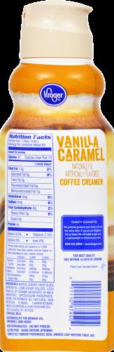 Kroger® Vanilla Caramel Coffee Creamer Perspective: back