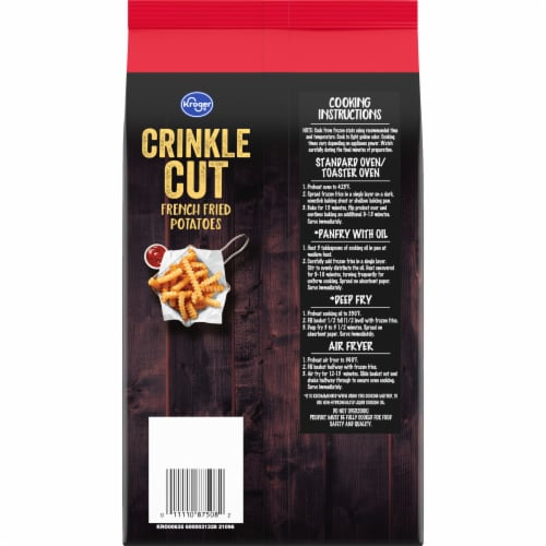 Kroger® Crinkle Cut French Fries Bag Perspective: back