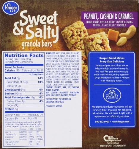 Kroger® Sweet & Salty Peanut Cashew & Caramel Granola Bars Perspective: back