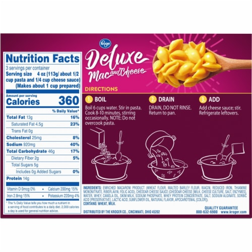 Kroger® Deluxe Shells & Cheddar Mac and Cheese Perspective: back