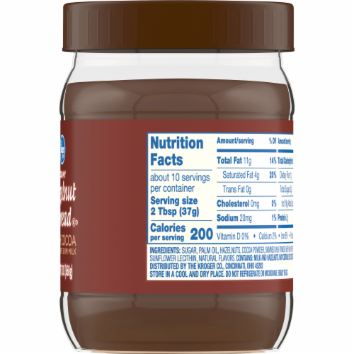 Kroger® Hazelnut Spread with Cocoa Perspective: back