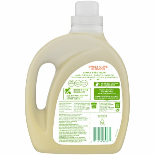 Simple Truth® Sweet Olive Blossom Liquid Laundry Detergent Perspective: back