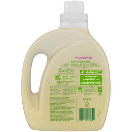 Simple Truth® Wildflower Plant-Based Liquid Laundry Detergent Perspective: back