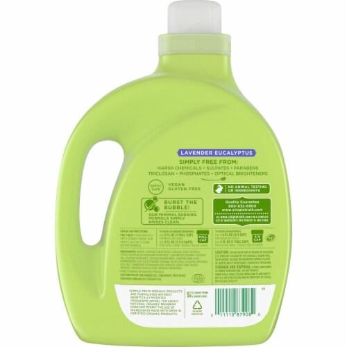 Simple Truth Organic® Lavender Eucalyptus Liquid Laundry Detergent Perspective: back