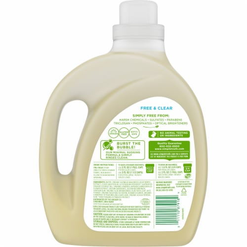 Simple Truth Organic® Free & Clear Liquid Laundry Detergent Perspective: back