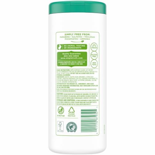 Simple Truth™ Fresh Mint Multi-Surface Cleaning Wipes Perspective: back