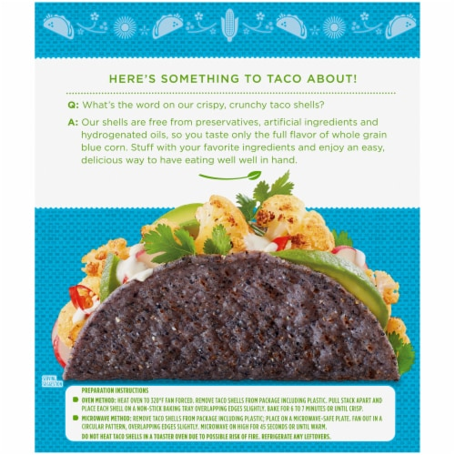 Simple Truth Organic™ Gluten Free Blue Corn Taco Shells Perspective: back