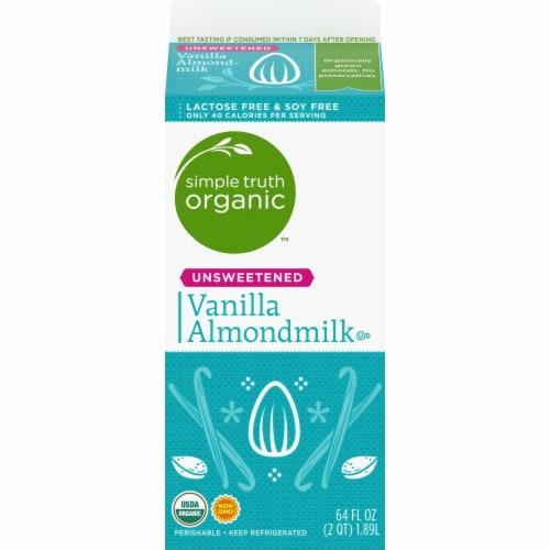 Simple Truth Organic™ Unsweetened Vanilla Almondmilk Perspective: back