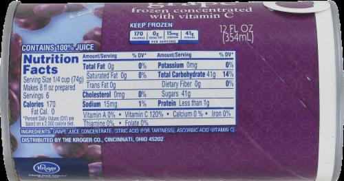 Kroger® Frozen 100% Grape Juice Concentrate Perspective: back