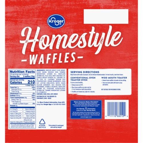 Kroger® Homestyle Waffles Perspective: back