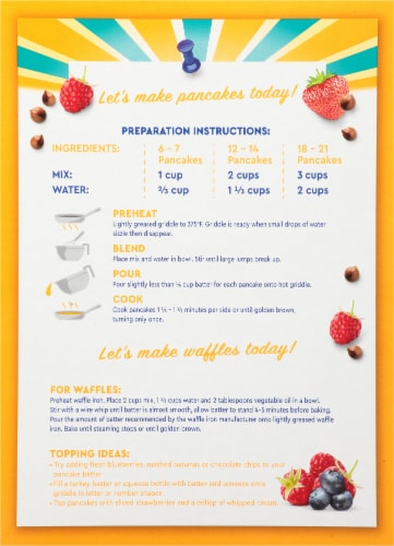 Kroger® Complete Buttermilk Pancake & Waffle Mix Perspective: back