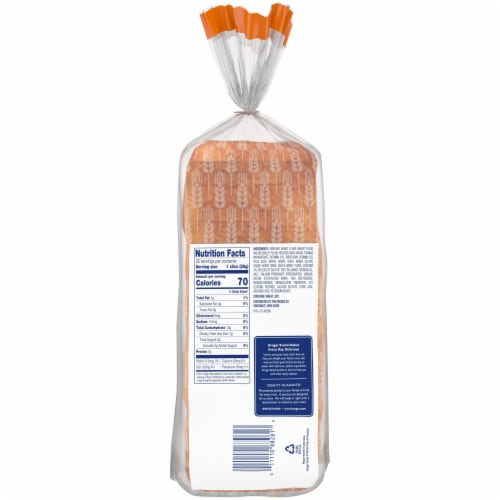 Kroger® Honey Wheat Bread Perspective: back