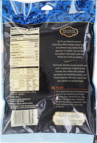 Private Selection® Vermont Extra Sharp White Cheddar Cheese Snacks Perspective: back
