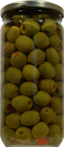 Kroger® Gluten Free Reduced Sodium Manzanilla Olives Stuffed With Pimiento Perspective: back