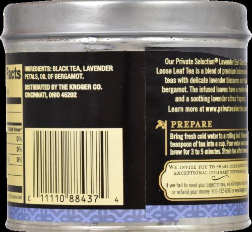 Private Selection® Lavender Earl Grey Black Loose Leaf Tea Perspective: back