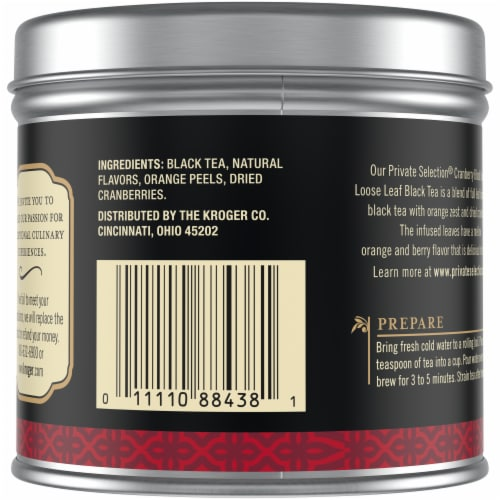 Private Selection™ Cranberry Blood Orange Loose Leaf Tea Perspective: back