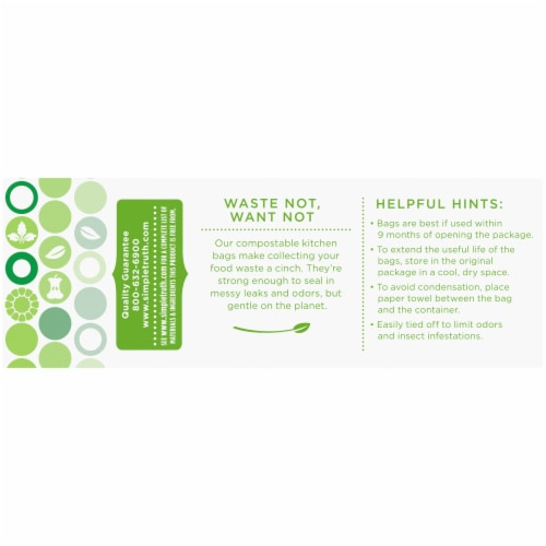 Simple Truth™ Small 2.6 Gallon Compostable Kitchen Trash Bags Perspective: back