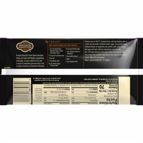 Private Selection® 43% Cacao Semi-Sweet Chocolate Chips Perspective: back