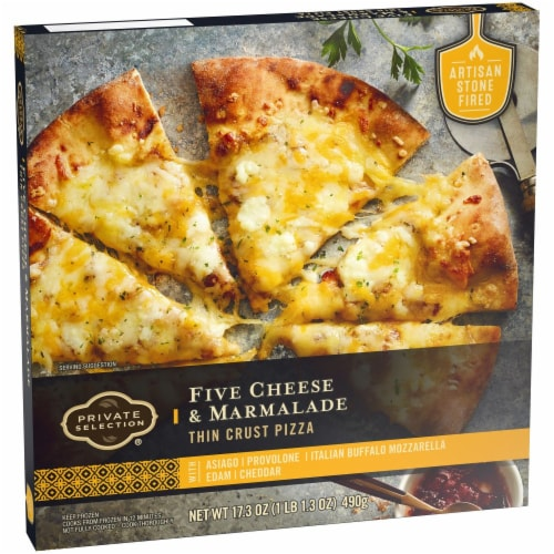 Private Selection® Five Cheese & Marmalade Thin Crust Frozen Pizza Perspective: back