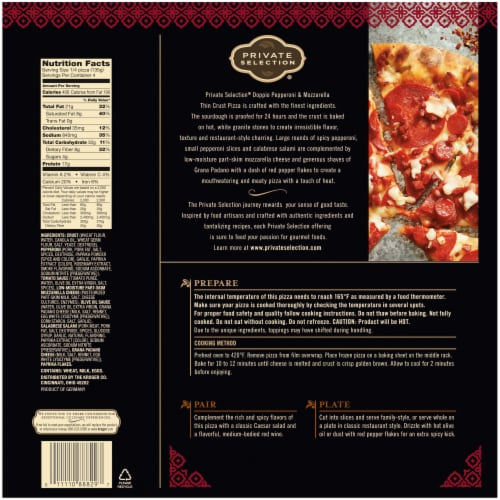 Private Selection® Doppio Pepperoni & Mozzarella Thin Crust Pizza Perspective: back
