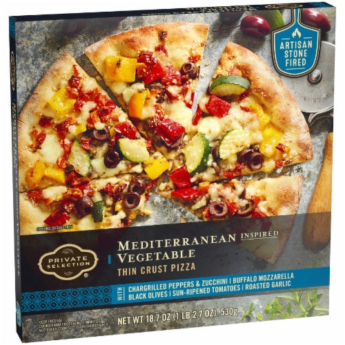 Private Selection™ Mediterranean Inspired Vegetable Thin Crust Pizza Perspective: back
