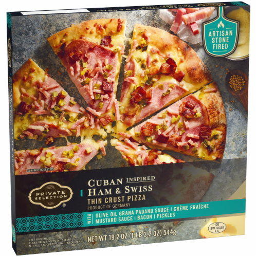 Private Selection® Cuban Inspired Ham & Swiss Thin Crust Pizza Perspective: back
