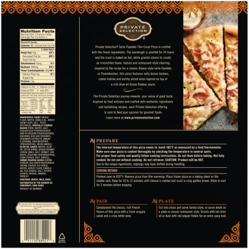 Private Selection® Tarte Flambee Thin Crust Pizza Perspective: back