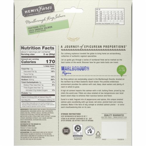 HemisFares™ Pastrami Style Cold Smoked Salmon Perspective: back