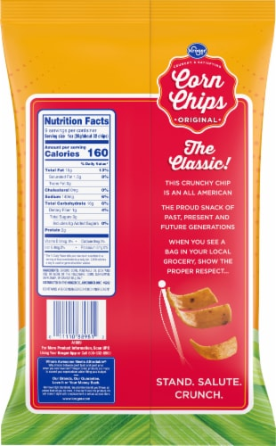 Kroger® Original Corn Chips Perspective: back