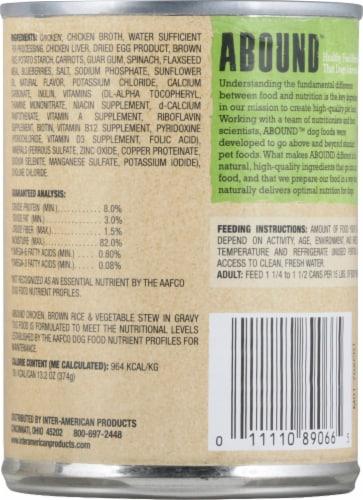 Abound™ Chicken Brown Rice & Vegetable Stew in Gravy Wet Dog Food Perspective: back