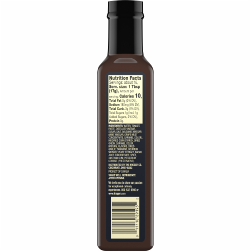 Private Selection™ Bourbon & Balsamic Steak Sauce Perspective: back