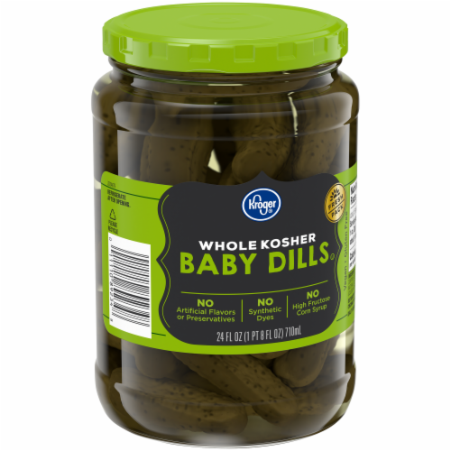 Kroger® Whole Kosher Baby Dill Pickles Perspective: back