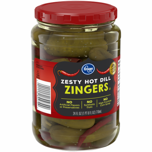 Kroger® Zesty Hot Dill Zingers Perspective: back