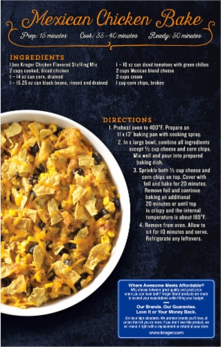 Kroger® Chicken Flavored Stuffing Mix Perspective: back