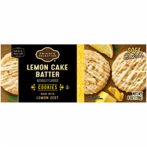 Private Selection® Lemon Cake Batter Cookies Perspective: back