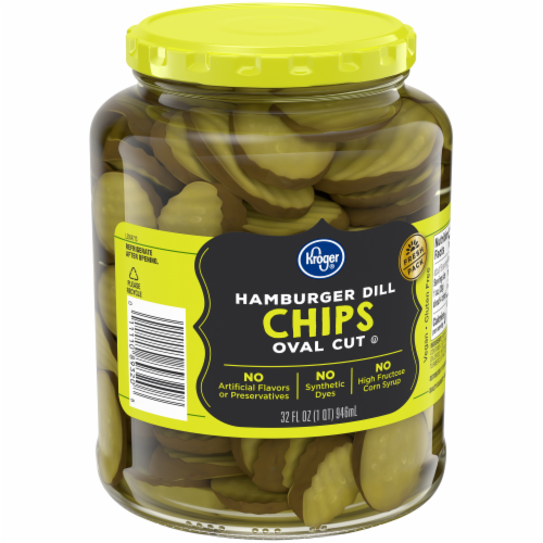 Kroger® Oval Cut Hamburger Dill Chips Perspective: back