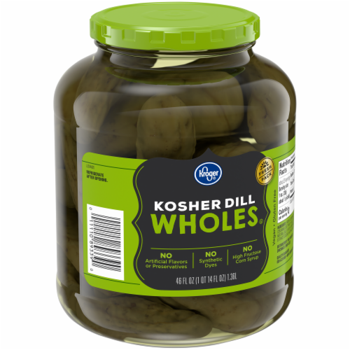 Kroger® Kosher Whole Dill Pickles Perspective: back