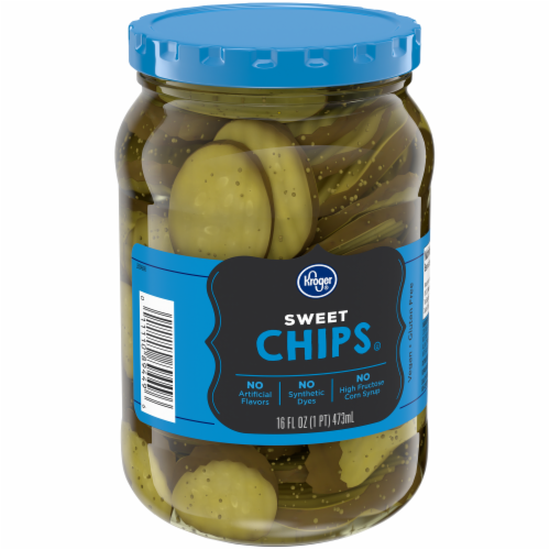 Kroger® Sweet Pickle Chips Perspective: back