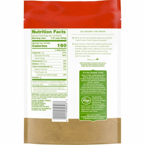 Simple Truth® Grain Free Original Granola Perspective: back