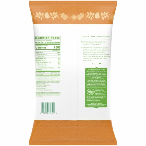 Simple Truth Organic™ Wavy Potato Chips Perspective: back