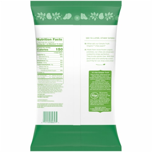 Simple Truth Organic™ Sour Cream & Onion Potato Chips Perspective: back