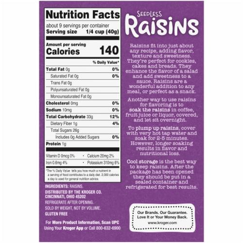 Vine Street Seedless Raisins Perspective: back