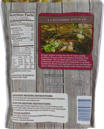 Kroger® Southern Style Blackeye Peas Perspective: back