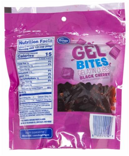 Kroger® Gel Bites Sugar Free Black Cherry Gelatin Cubes Perspective: back